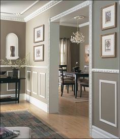 Modern Wainscoting Hallways traditional wainscoting home.Traditional Wainscoting Home. Decor, Taupe Walls, Living Dining Room, Interior, Baseboard Styles, House, Home Decor, House Interior, Wainscoting Styles