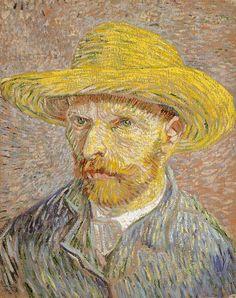 Celebrate with this Van Gogh self-portrait of the artist in a straw hat. Van Gogh produced more than twenty self-portraits during his Parisian sojourn including this work. Vincent van Gogh Self-Portrait with a Straw Hat (obverse: The Potato Peeler), Art Van, Van Gogh Art, Vincent Van Gogh, Claude Monet, Rembrandt, Van Gogh Pinturas, Van Gogh Self Portrait, Sculpture Textile, Art Public