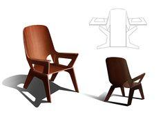 Chair for UPM Grada Technology by Anastasia Antonova, via Behance