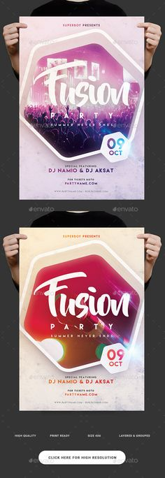 Music Fest Party Flyer — PSD Template #party flyer #dance music • Download ➝ https://graphicriver.net/item/music-fest-party-flyer/18515958?ref=pxcr