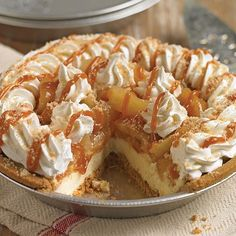 Attention all foodies, Caramel Apple Cream Cheese Pie is back! #CarmelApple #ApplePie