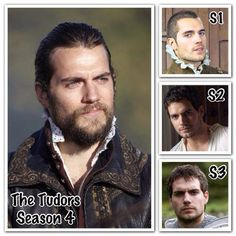 Henry as Charles Brandon thru the years.  From Henry Cavill Org facebook.