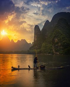 On The Li River by peter stewart