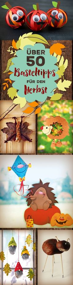 Autumn handicrafts: ideas for autumn handicraft fun familie.de - Fall Crafts For Kids Cute Diy Crafts, Easy Fall Crafts, Fall Crafts For Kids, Fall Diy, Diy Crafts To Sell, Diy For Kids, Kids Crafts, Diy Para A Casa, Autumn Leaves Craft