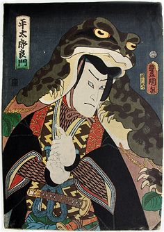 """the toad hat"" (1859) by toyokuni III"