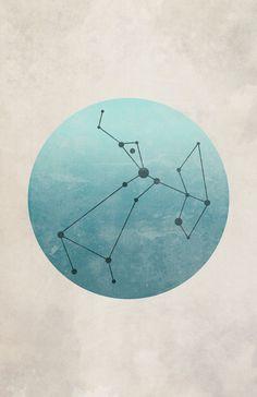 Constellation Sagittarius Art Print blue by cegphotographics