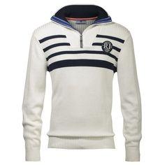 Weißer #Pullover mit #Kragen ab 44,99€ Hier kaufen: http://www.stylefru.it/s380524 #pulli #strick