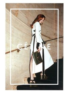 CÉLINE Fall/Winter 2014 Campaign Photographer: Juergen Teller Hair: Jimmy Paul Make-Up: Dick Page