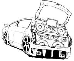 desenhos de carros tunados e rebaixados para colorir imprimir