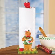 Holiday Gingerbread Paper Towel Holder