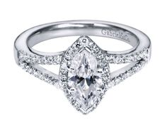 What do you think of this marquise diamond engagement ring?