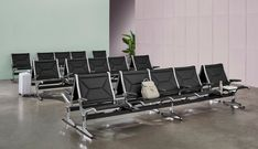Eames: The Best in Airport Seating | Eames Office Soft Seating, Lounge Seating, Optometry Office, Plywood Chair, Public Seating, Waiting Area, Indoor Outdoor Living, Tandem, Eames