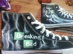 Breaking Bad Custom Canvas Shoes Walter White and Pinkman High-t,Slip-on Painted Canvas Shoes