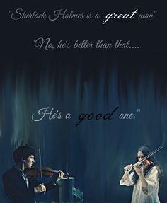 """""""No, he's better than that...He's a good one."""" Sherlock season 4 fan-art. Sherlock Holmes with Eurus Holmes."""