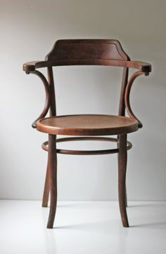 marked Thonet cafe bistro bentwood chair by ModishVintage on Etsy