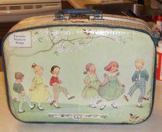 sweet  suitcase using nursery gift bags