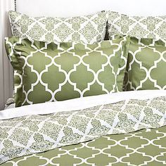 ZGallerie Mimosa Reversible Bedding in Apple Green