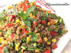 Green Lentil Salad (with video) - Yummy Recipes - # 3254055 - ALMA Green Lentil Salad, Green Lentils, Turkish Recipes, Ethnic Recipes, Pea Soup, Yummy Food, Yummy Recipes, Recipies, Salads
