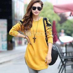 Women's Loose Pullover Knitwear Long Sweater   LightInTheBox