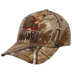 Reebok Cleveland Browns Realtree Camo Open Field Adjustable Hat