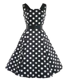 Pretty heavy stretch cotton 50's style dress with big polka dot fabric detail.  Satin collars to front and back.  Fitted bodice with flared/panelled lower section.  Black satin belt to clench in waist and invisible zip to side.    Can be worn with a Hell Bunny long petticoat to increase the volume (as in main picture). Petticoat is not included with the dress but available to purchase separately in our shop.   Machine washable  Material : 97% Cotton, 3% Elastic  Length : Knee length