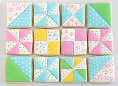 Glorious Treats » Sewing and Quilt Cookies Look at how cute! @Nicole Christoffersen (Scribbles and Stitches)