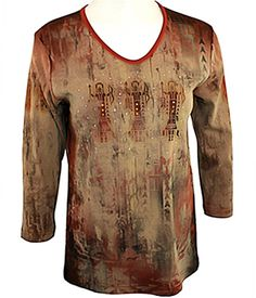Cactus Bay Apparel - Indian Pattern SW Themed, Copper Studs, Cotton Top *** This is an Amazon Affiliate link. Read more at the image link.