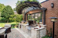 The only reason people want an outdoor kitchen is to create a more unforgettable moment with friends, family,… The post Outdoor Kitchen Designs appeared first on Don Pedro. Outside Lamps, Outside Room, Small Outdoor Kitchens, Outdoor Kitchen Design, Outdoor Fire, Outdoor Decor, Outdoor Gas Fireplace, Outdoor Kitchen Countertops, Built In Grill