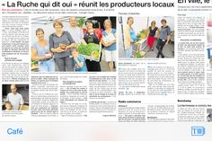 La ruche qui dit oui! L'Huisserie: Reportage estival Ouest France sur ma ruche qui fê...
