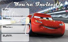 Cars 3 Birthday Party Free Printable Invitations Boy Disney