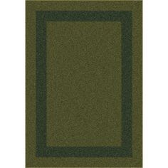 "Milliken Modern Times Bailey Deep Olive Area Rug Rug Size: Oval 3'10"" x 5'4"""