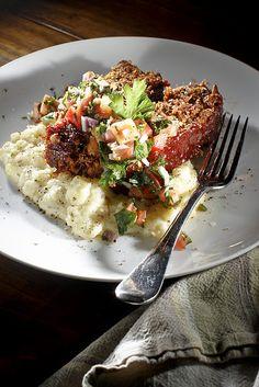 Vegetarian Meatloaf + Garlic Mashed Potatoes