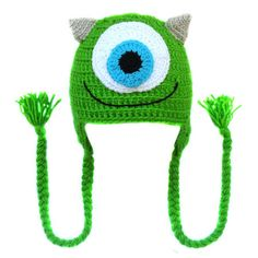 Touca de crochê Mike Wazowski (Monstros S.A.) Crochet hat Monsters