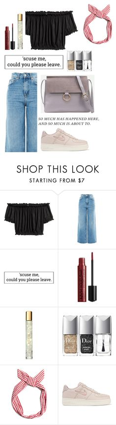 """still single"" by ssjuin ❤ liked on Polyvore featuring Topshop, AERIN, Christian Dior, Pull&Bear and NIKE"