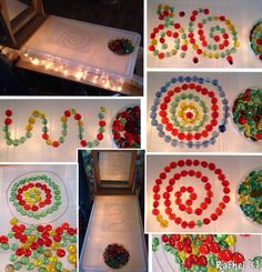 "Light and lines. Patterns on the light box. from Rachel ("",) Reggio Emilia, Patterning Kindergarten, Diy Light Table, Licht Box, Light Panel, Kids Lighting, Eyfs, Mirror With Lights, Mark Making"