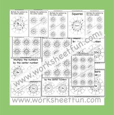 Times Table Worksheets – 19 and 20 – Fifty Worksheets / FREE Printable Worksheets Repeated Addition Multiplication, Circle Template, Circle Pattern, Free Printable Worksheets, Math Worksheets, 6 Times Table, Times Tables Worksheets, Circles