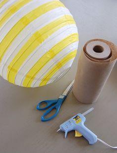 diy curly paper lantern