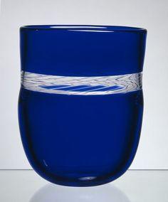 Cobalt Blue a Glass Vase. Arne Jon Jutrem for Hadeland Cobalt Glass, Cobalt Blue, Art Of Beauty, Victoria And Albert Museum, Glass Collection, Hand Blown Glass, My Favorite Color, Scandinavian Design, Crystals