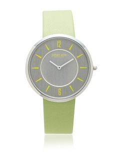 70% OFF Johan Eric Women's JE5001-04-001.10 Vejle Slim Green Leather Watch