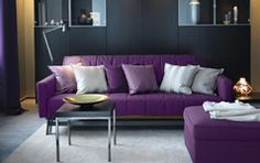 I love the purple couch.   Living Room Furniture - Sofas, Coffee Tables & Inspiration - IKEA