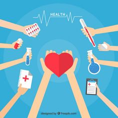 Dibujos animados de asistencia médica Vector Gratis