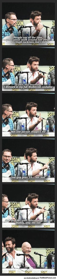 Hugh Jackman As Wolverine At Comic-Con