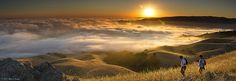 Dawn Hikers - Mission Peak by Steve Kody, via Flickr