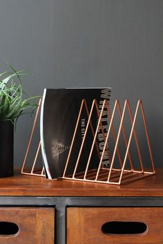 Wire Triangle Magazine Rack - Copper - View All Catalogue - Shop The Catalogue