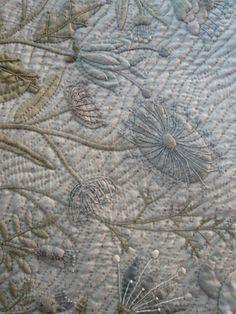 yoko saito - embroidery, applique and quilting Yoko Saito, Japanese Patchwork, Japanese Fabric, Hand Applique, Applique Quilts, Embroidered Quilts, Japanese Embroidery, Embroidery Art, Sashiko Embroidery