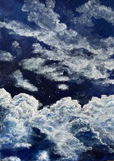 Acrylic Art, My Drawings, Clouds, Paintings, Canvas, Artwork, Outdoor, Tela, Outdoors