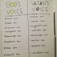 I choose to listen to God's voice