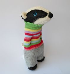 plush badger by Treacher Creatures, via Flickr