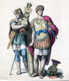 The armor of the Romans.
