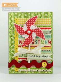 Pinwheel for Teacher by akeptlife - Cards and Paper Crafts at Splitcoaststampers
